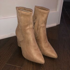BCBGeneration Ally tan suede Heeled bootie